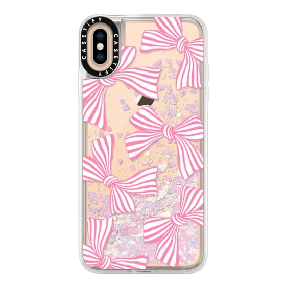 iPhone XS Max Cases - Pink Striped Bows