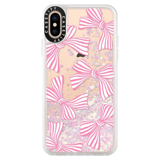 iPhone XS Cases - Pink Striped Bows