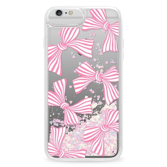 iPhone 6 Plus Cases - Pink Striped Bows