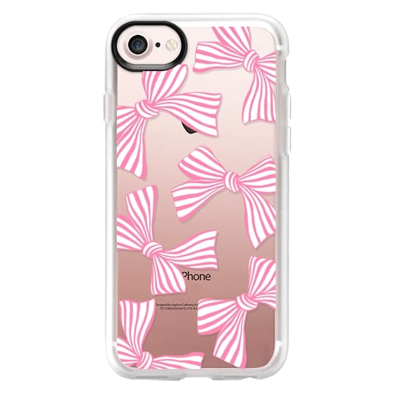 iPhone 7 Cases - Pink Striped Bows