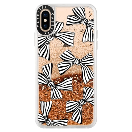 iPhone XS Cases - Striped Bows