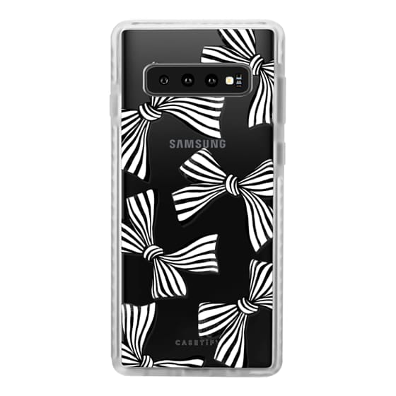 Samsung Galaxy S10 Cases - Striped Bows