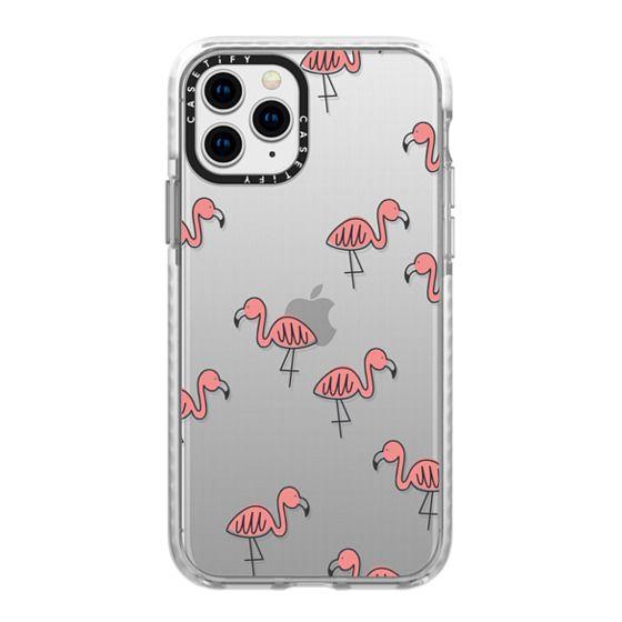 iPhone 11 Pro Cases - Flamingos (transparent)