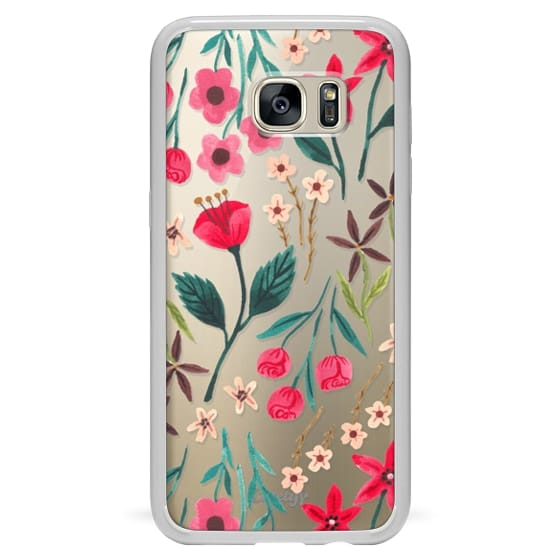 Samsung Galaxy S7 Edge Cases - Red Floral