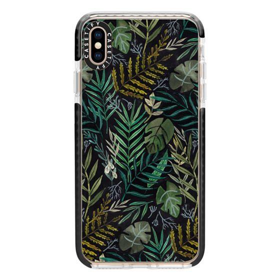 iPhone XS Max Cases - Night Foliage