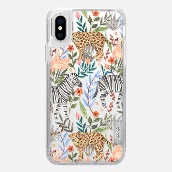 iPhone X Coque - Moody Jungle