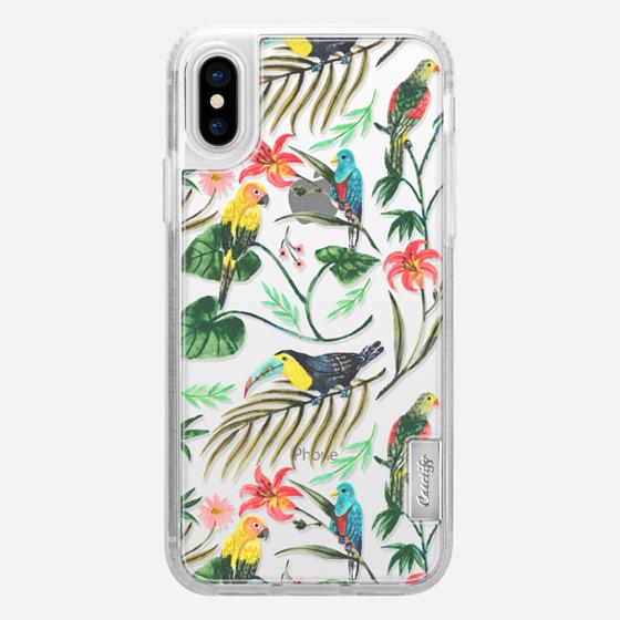 iPhone X Case - Tropical Birds