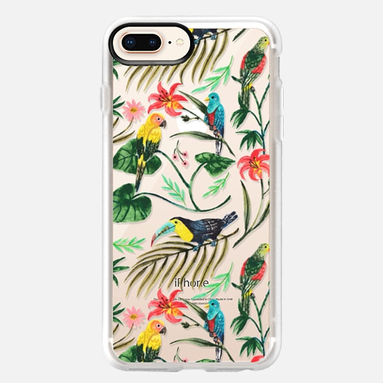 iPhone 8 Plus Hülle - Tropical Birds