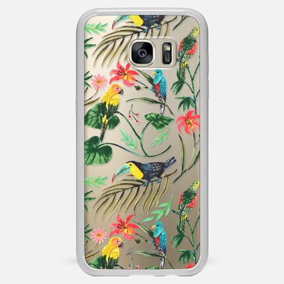 Galaxy S7 Edge 保护壳 - Tropical Birds