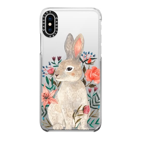 iPhone X Cases - Rabbit