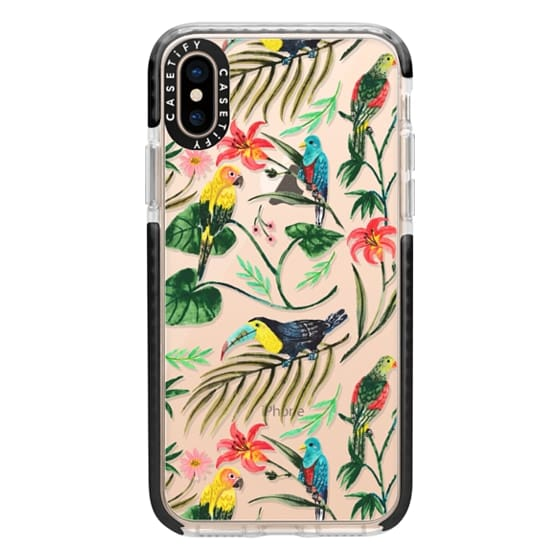 iPhone XS Cases - Tropical Birds