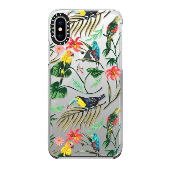 iPhone X Cases - Tropical Birds