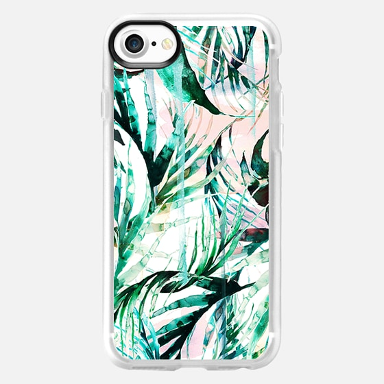 Green tropical palms  - Wallet Case