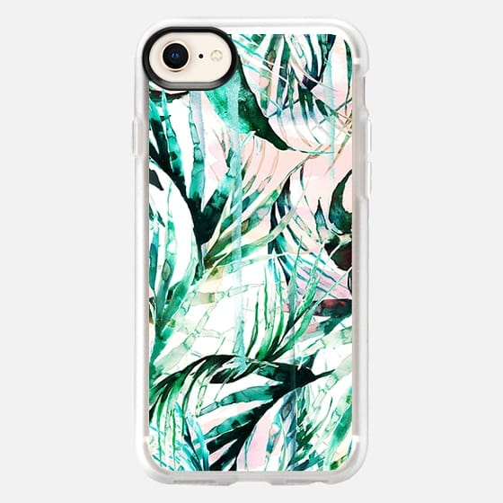 Green tropical palms  - Snap Case