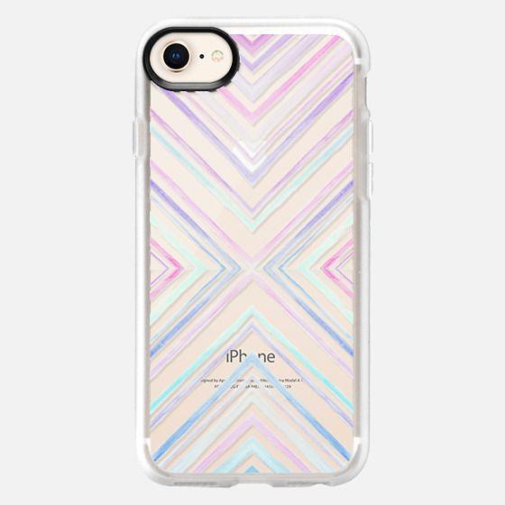 Watercolour Pastel Chevron - Snap Case