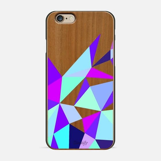Wooden Geo Purple -