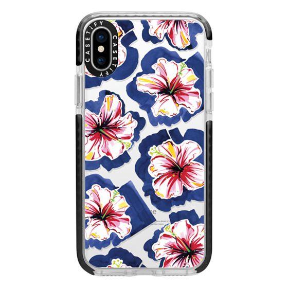 iPhone X Cases - Hola! Flowers (Transparent)