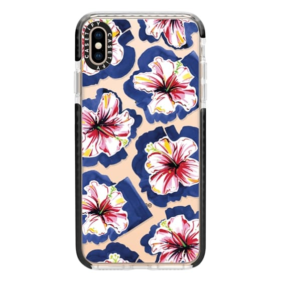 iPhone XS Max Cases - Hola! Flowers (Transparent)