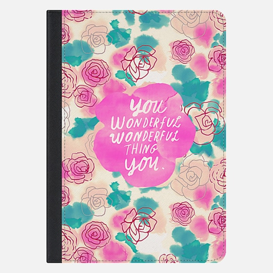Cute Pink Turquoise Floral Pattern Illustration