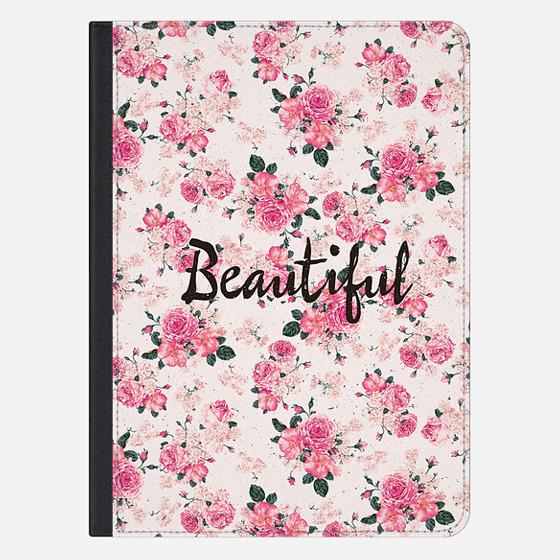 Elegant Pink Vintage Floral Pattern Typography