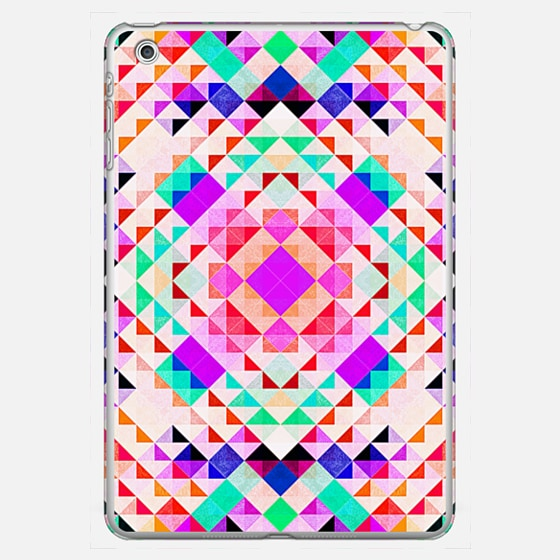 Neon Pink Turquoise Triangles Geometric Pattern - Classic Snap Case