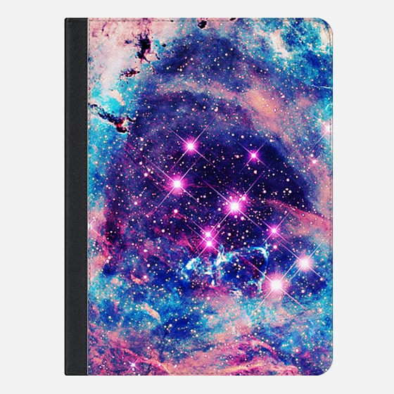 Trendy Pastel Pink Blue Nebula Girly Stars Galaxy