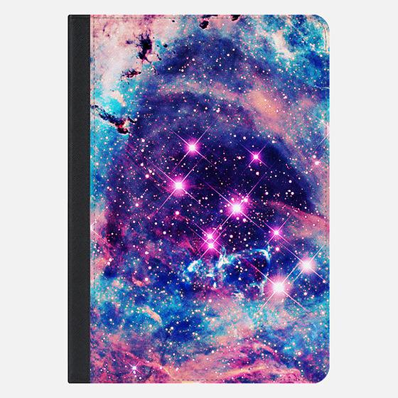 Trendy Pastel Pink Blue Nebula Girly Stars Galaxy