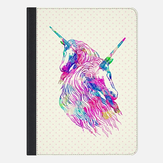 Watercolor Unicorns Abstract Rainbow Neon Colors