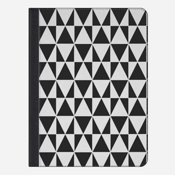 Black White Geometric Hipster Triangles Pattern