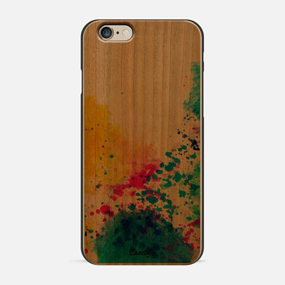 Blue Yellow Abstract Watercolor Neon Pink Splatter -