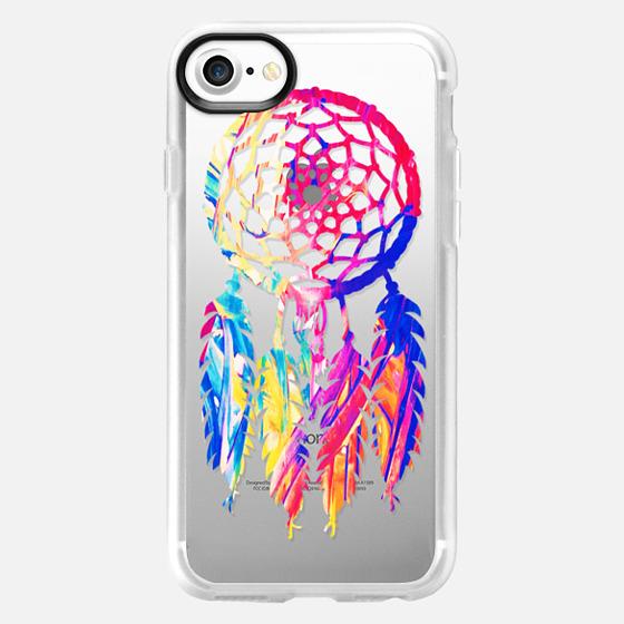 Hipster Neon Dreamcatcher Cute Rainbow - Wallet Case