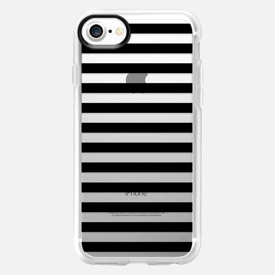 Modern Black White Stripes Monochrome Pattern - Wallet Case
