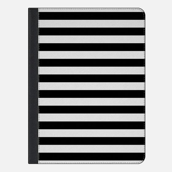 Modern Black White Stripes Monochrome Pattern