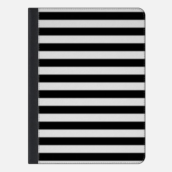 Modern Black White Stripes Monochrome Pattern