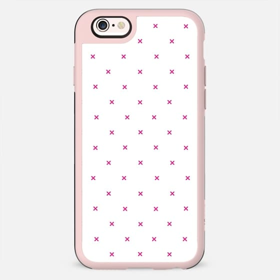 Girly Pink Modern Polka Dots Geometric Pattern - New Standard Case