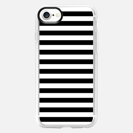 Modern Black White Stripes Monochrome Pattern - Classic Grip Case