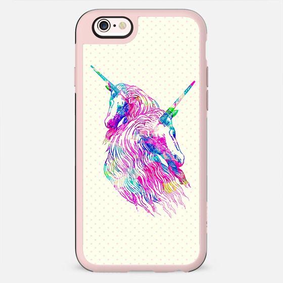 Watercolor Unicorns Abstract Rainbow Neon Colors -