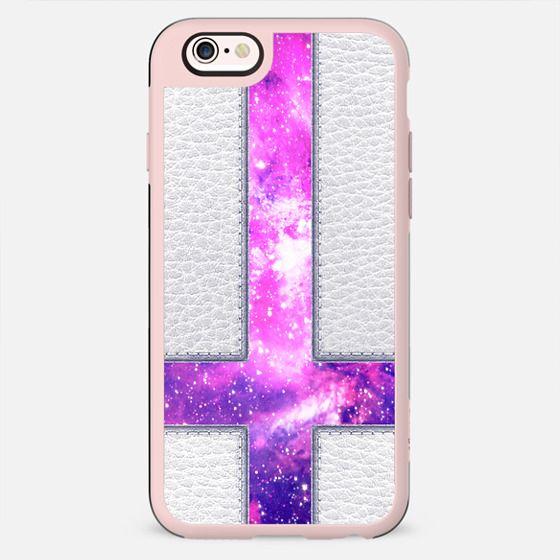 Hipster Purple Nebula Cross Modern Faux Leather - New Standard Case