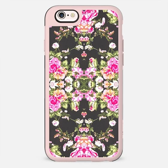 Mod Pink Black Floral Pattern Fashion Kaleidoscope - New Standard Case