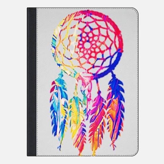 Hipster Neon Dreamcatcher Cute Rainbow - iPad Folio Case