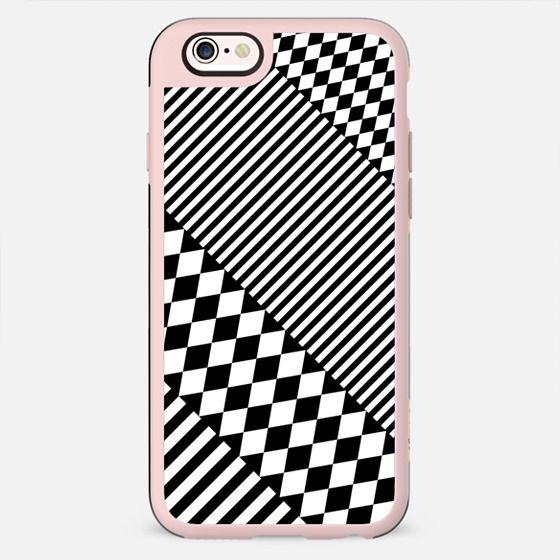 Stylish Black White Geometric Patterns Monochrome - New Standard Case