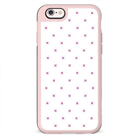 Girly Pink Modern Polka Dots Geometric Pattern