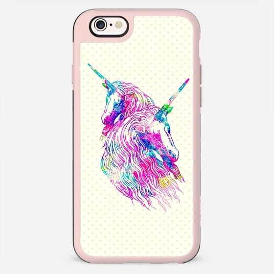 Watercolor Unicorns Abstract Rainbow Neon Colors -