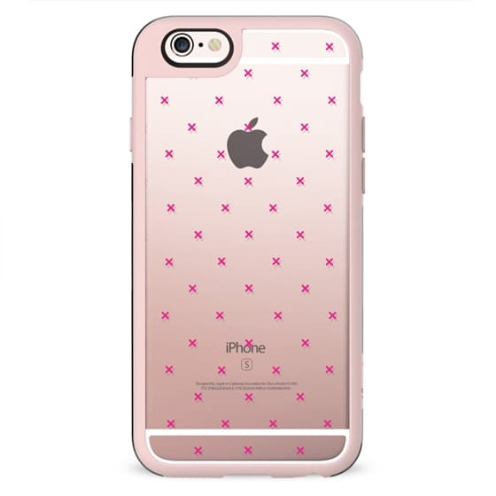 Girly Pink Modern Polka Dots Geometric Pattern