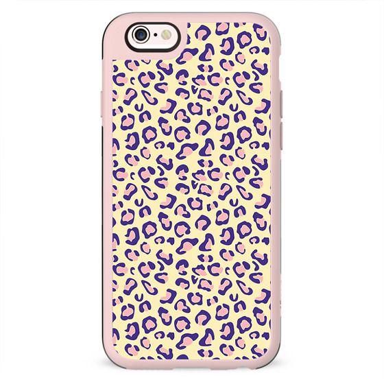 Vintage Pink Yellow Girly Leopard Print Pattern