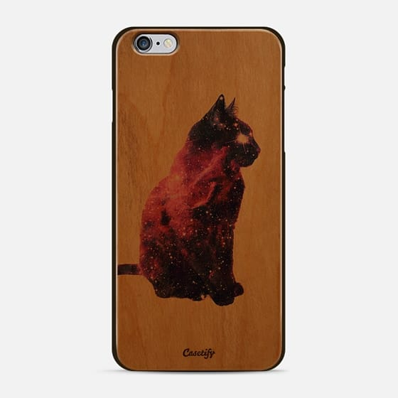 Whimsical Purple Nebula Cat Pink Galaxy Stars -