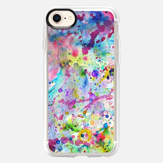 Abstract bright watercolor paint splatters pattern iphone for Road case paint