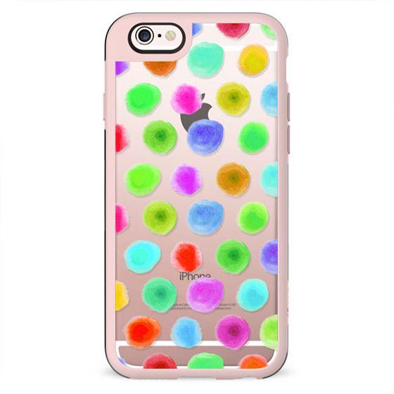 Girly Artistic Neon Polka Dots Trendy Pattern
