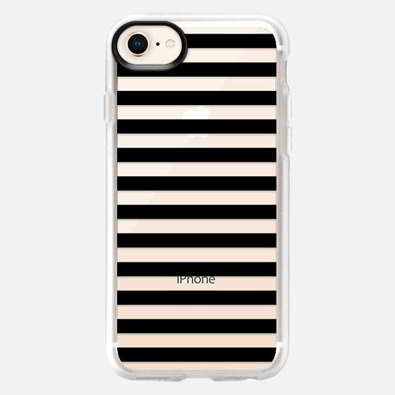 Modern Black White Stripes Monochrome Pattern - Snap Case