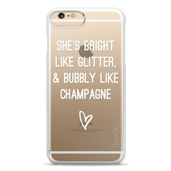iPhone 6 Plus Cases - Bright Like Glitter, Bubbly like champagne